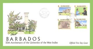 Barbados 1998 University Of West Indies First Day Cover photo