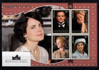 Grenada 2014 Downton Abbey 4v M/s Tv Earl Grantham Dowager Countess Crawley photo