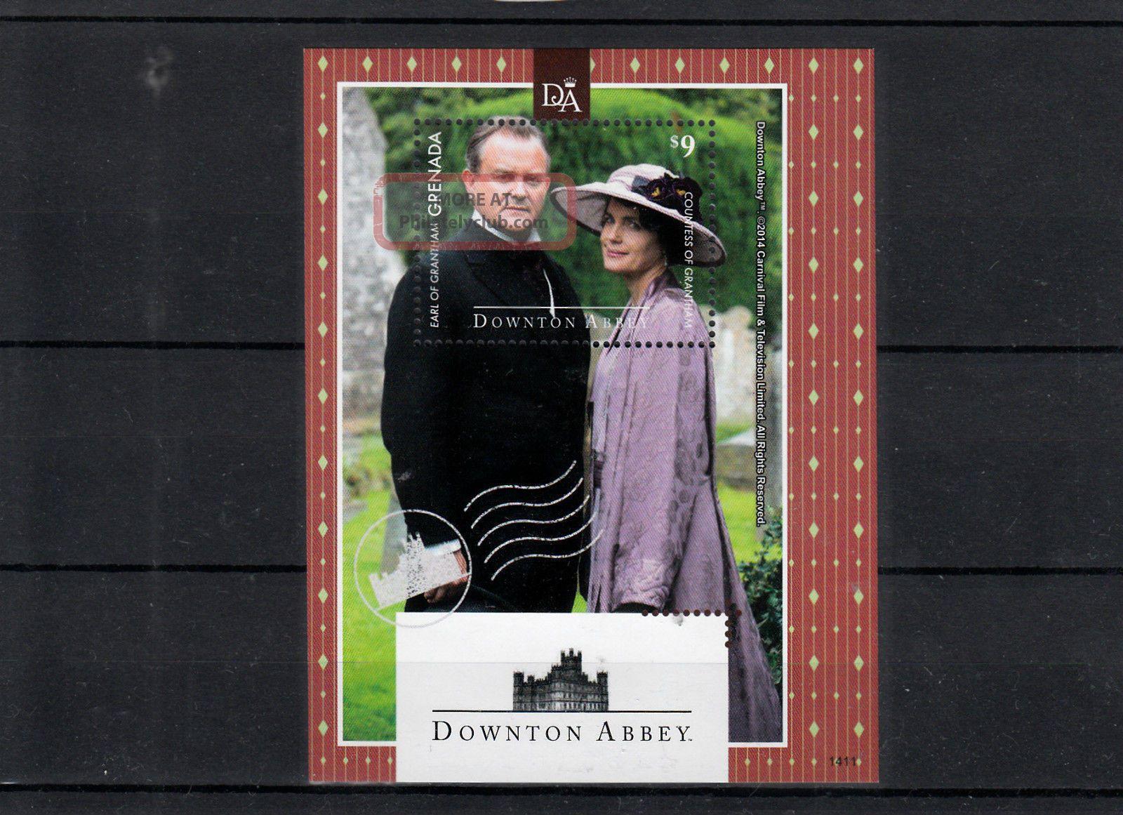 Grenada 2014 Downton Abbey 1v S/s Tv Earl Countess Grantham Caribbean photo