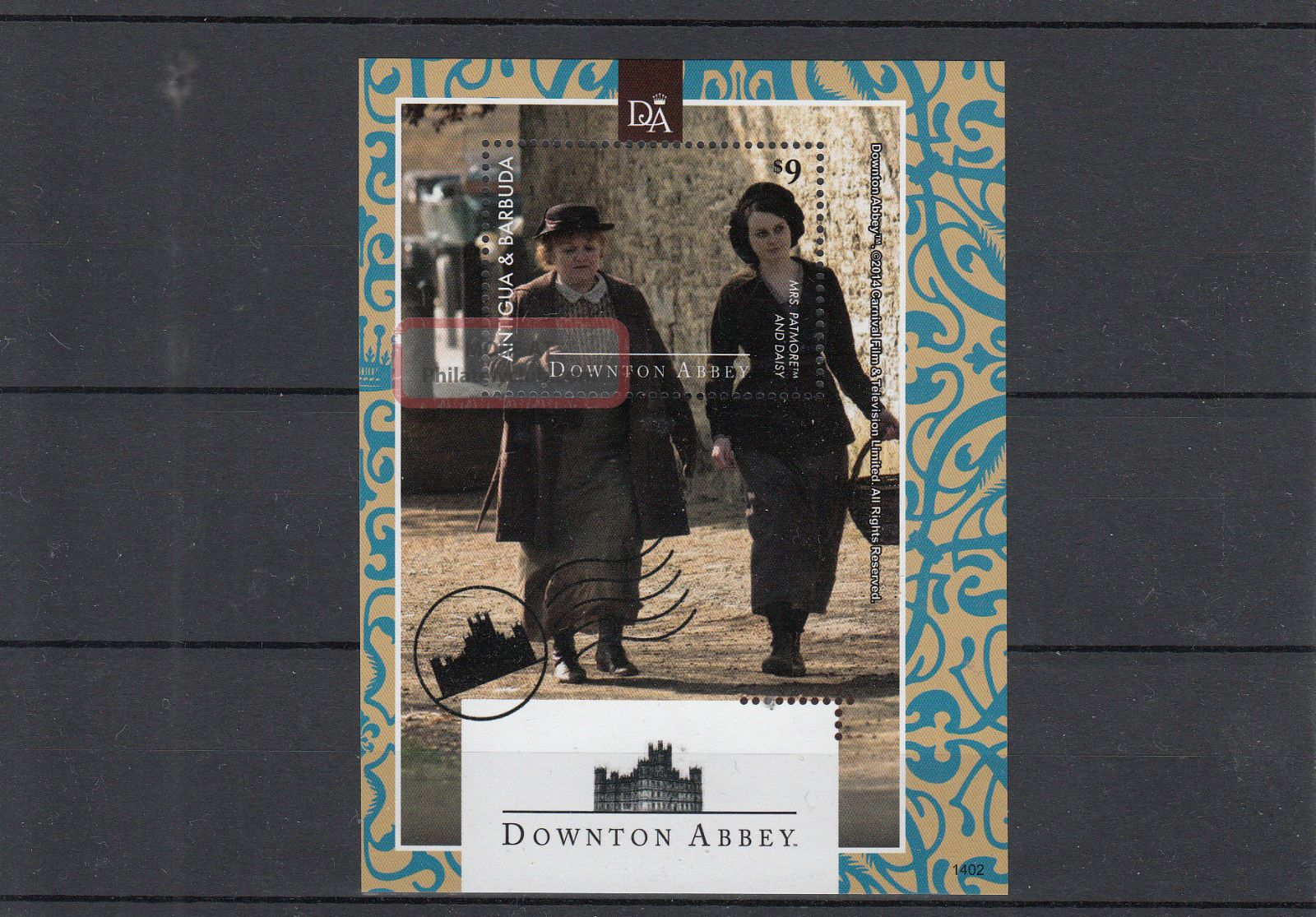 Antigua & Barbuda 2014 Downton Abbey 1v S/s Mrs Patmore Daisy Tv Series Caribbean photo