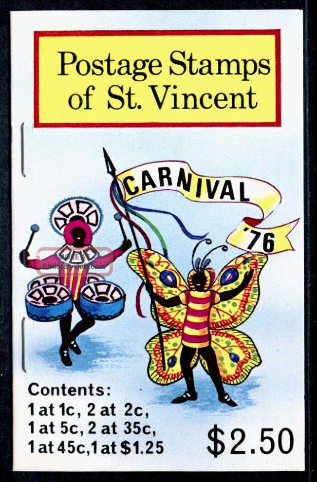 St Vincent 457 - 62 Booklet Sb4 Carnival Costumes Caribbean photo