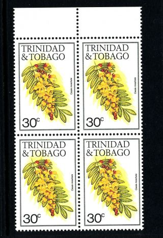 A480 Trinidad & Tobago 1983 Sg641a (block Of 4) 30c Cassia photo