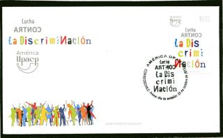 Chile 2013 Fdc America Upaep - Fight Against Discrimination photo