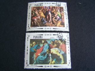 Panama.  482,  482 A - E.  Life Of Christ Painted By Famous Artists. photo