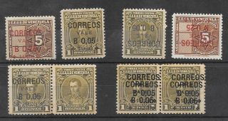 Venezuela : Scott 287+288 With Good Varieties photo