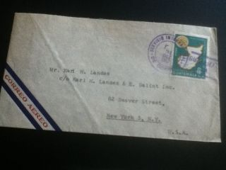 Guatemala Airmail Cover 1957 To York City photo