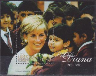Uruguay: Mi Bl.  83 Princess Diana (1998) S/sheet photo
