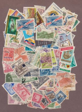 115 Different Colombia Airmail Issued Between 1932 And 1968 photo