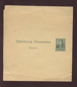 Argentina 1900 Stationery Wrapper Specimen Muestra photo