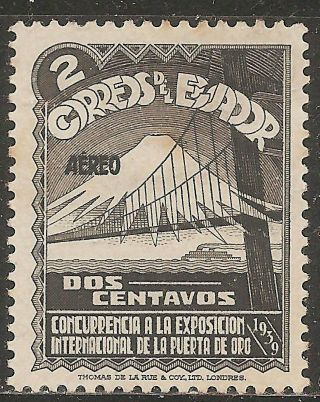 1939 Ecuador Airmail: Scott C73 San Francisco International Exhibition (2c) Mng photo