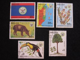 Belize - Scott 594 - 599 - - Cat Val $56.  00 photo