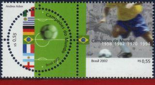 2840 Brazil 2002 - World Cup Championships,  Sports,  Soccer/football,  Mi 3226 - 27 photo