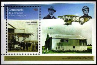 Uruguay: Mi Bl.  114 Centenary Of The Military Aviation (2013) S/sheet photo