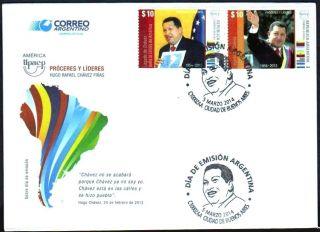 Argentina: Upaep - President Hugo Chavez / Venezuela (2014) Fdc photo
