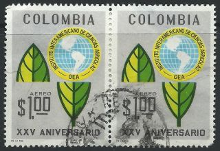 Colombia Emblem Of Inter - American Institute Of Agriculture Scotts 768 Hinged photo