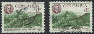 Colombia Featuring: Alexander Von Humboldt & Andes Mts.  Scotts C513 Hinged photo