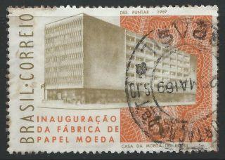 Brazil Inauguration Of State Money Printing Plant 1969 Stamp Scott 1120 Hinged photo