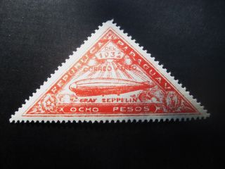 Paraguay 1932 Red 8p Stamp Sc C75