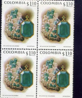Emerald Of Muzo,  - Bklt Of 4  Colombia 1972 photo