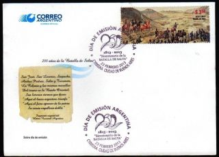 Argentina: War Of Independence: Battle Of Salta (2013) Fdc photo