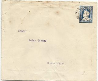Valdivia May Feb 1902 Columbus Ps: Envelope To Osorno: photo