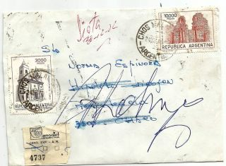 Chos Malal,  Neuquen - Resistencia 1982 Inflation Registered,  Returned Postage photo