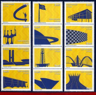 10 - 30dp Brazil 2010 Monuments Of Brasilia,  Dream And Reality,  Depersonalized photo