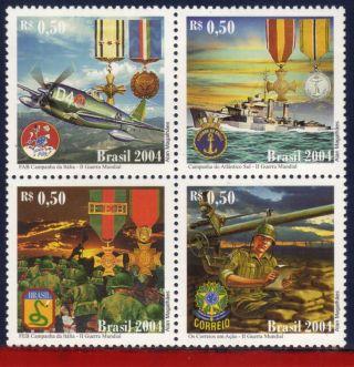 2944 Brazil 2004 - World War Ii,  Militarism,  Planes,  Ships,  History - Scott 2944 photo