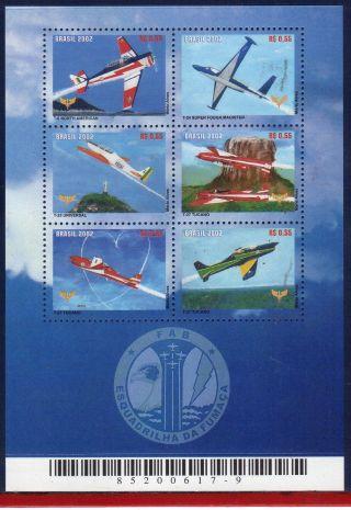 2843 Brazil 2002 Brazilian Air Force,  Smoke Squadron,  Planes,  Sc 2843,  Mi 3231 photo