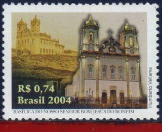 2928 Brazil 2004 - Bonfim Basilica,  Churches,  250th.  Anniv. ,  Religion - Sc 2928 photo