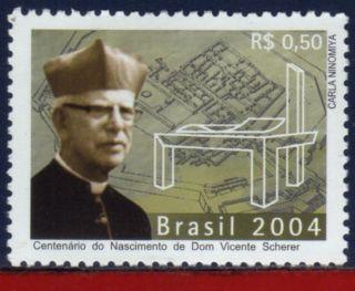 2919 Brazil 2004 - Vicent Scherer,  Cent.  Anniv.  - photo