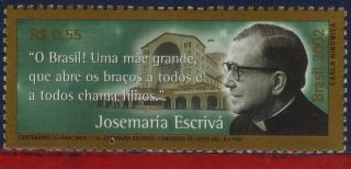 2842 Brazil 2002 - Josemaria Escriva Balague,  Opus Dei,  Famous People,  Mi 3230 photo