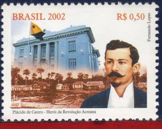 2854 Brazil 2002 - Acreana Revolution,  Placido De Castro,  Famous Peolple, photo