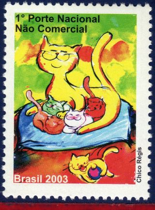 2913dp Brazil 2004 - Cats,  Depersonalized Sc 2913 photo