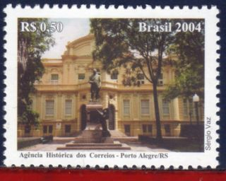 2948 Brazil 2004 Historic Post Oficce,  Porto Alegre,  Architecture,  Sculture, photo