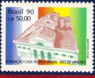 2255 Brazil 1990 Joint Issues With France,  Architecture,  France - Brazil House, photo