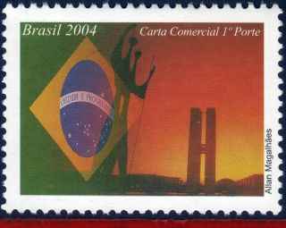2940dp Brazil 2004 Brazil,  Architecture,  Flags,  Sculture,  Depersonalized photo