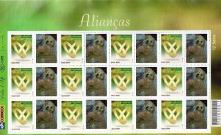 2915fo Brazil 2004 - Rings,  Love,  Dove,  Sheet Personalized Sc 2915 photo