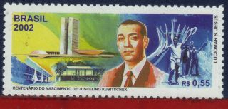 2839 Brazil 2002 - Juscelino Kubitschek,  President,  Famous People,  Mi 3225, photo