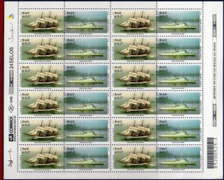 2753fo Brazil 2000 Sailboat And Training Ship,  Mi 3045 - 46,  Sc 2753,  Sheet photo