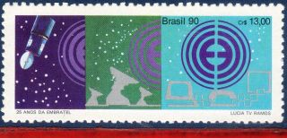 2281 Brazil 1990 Embratel,  Telecommunication,  Space,  Satellite,  Mi 2376, photo