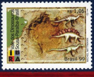 2709 Brazil 1999 - Prehistoric Animals - Dinosaurs - Scott 2709 - Michel 2936 photo