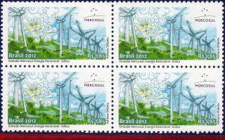 12 - 10q Brazil 2012 - Renewable Energy,  Mercosul,  Aeolus,  Mythology,  Block photo