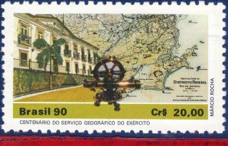 2250 Brazil 1990 Army Geographical Service,  Maps,  Architecture,  Mi 2363, photo