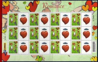 2914 - G3 Brazil 2004 - Novel,  Heart,  Sheet Personalized Sc 2914 photo