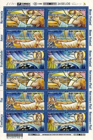 2773fo Brazil 2000 - Christmas,  Religion,  Redentor,  Star,  Ships,  Fish,  Mi 3115 - 20 photo