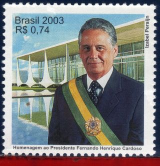 2909 Brazil 2003 - Fernando Henrique Cardoso,  President,  Famous People,  Mi 3343 photo