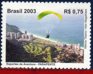 2907 Brazil 2003 Parachutting,  Paragliding,  Sports,  Sc 2907,  Mi 3339 photo