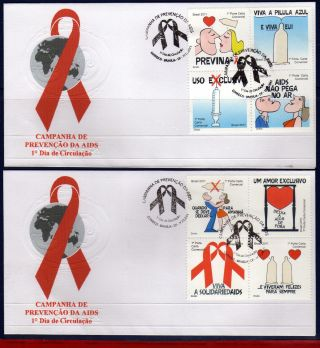 11 - 36fd Brazil 2011 Aids Prevention Campaigns,  Health,  2 Fdc photo
