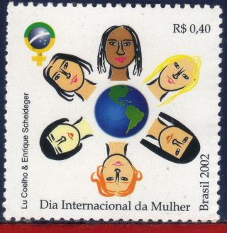 2837 Brazil 2002 - International Women´s Day,  Mi 3223, photo